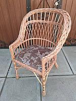 """Кресло из лозы """"Х. №1"""" мягкое"""