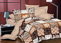 Двуспальный комплект постельного белья евро 200*220 хлопок  (7969) TM KRISPOL Украина