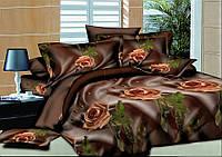 Двуспальный комплект постельного белья евро 200*220 хлопок  (7909) TM KRISPOL Украина
