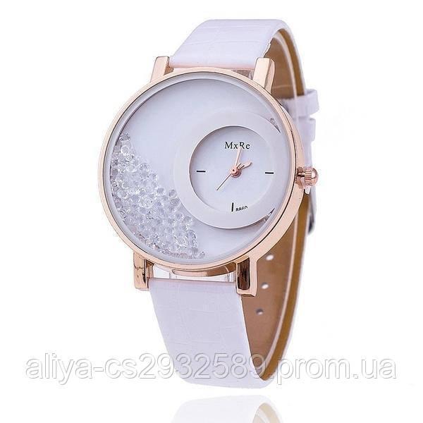 Часы женские Crystal в белом цвете