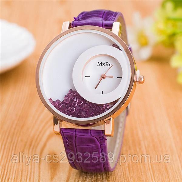 Часы женские Crystal в фиолетовом цвете