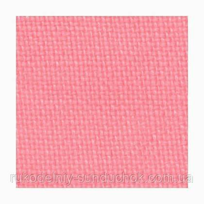 Ткань равномерного плетения Permin 28ct 076/272 Bright pink, 100% лён (Дания)