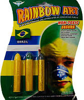 Грим 3 карандаша ( желтый, черный, зеленый )  Rainbow art