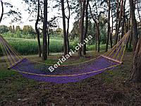 Гамак садовый ручная работа 210х105см  ячейка 6 см (разные цвета)