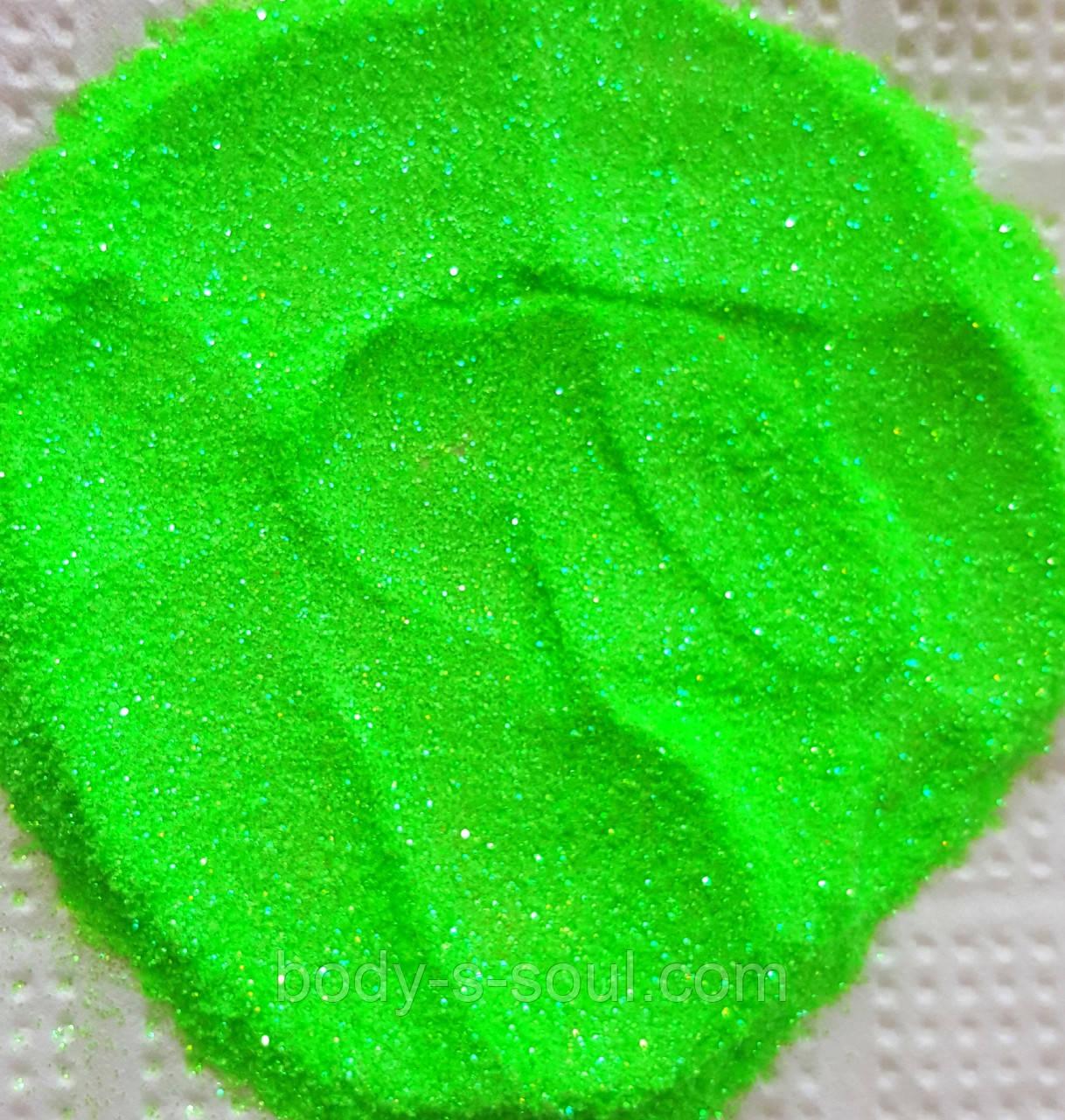 Гліттер флуорисцентный райдужний зелений