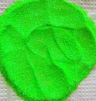 Глиттер флуорисцентный радужный зеленый