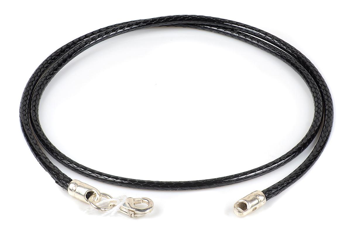 Шелковый вощеный шнурок с серебряным замком