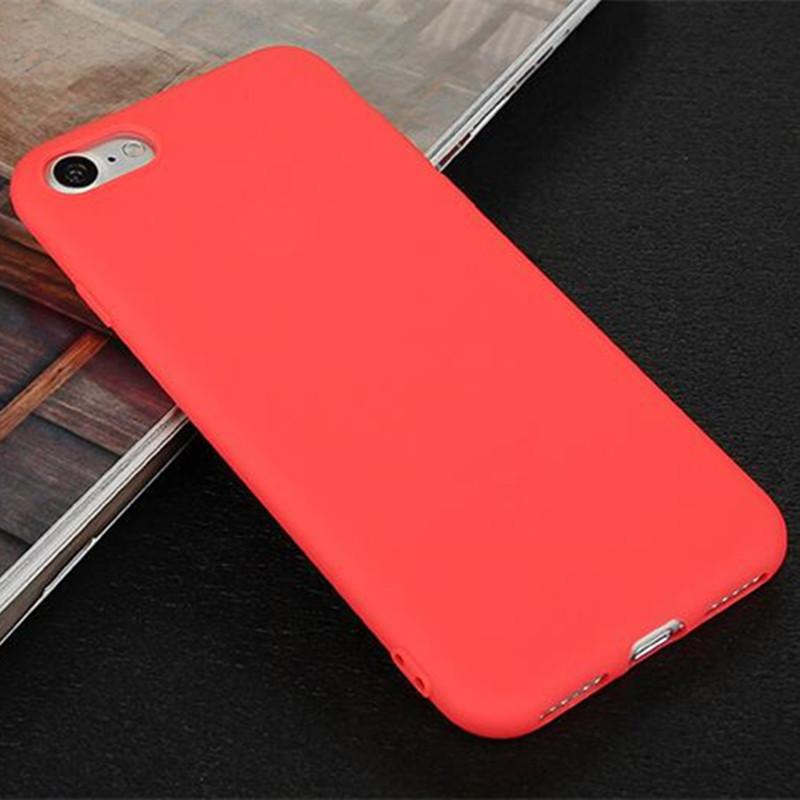 Чехол Style для Iphone 6 Plus / 6s Plus Бампер матовый Red