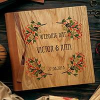 Свадебные книги для пожеланий и поздравлений из дерева