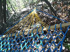 Гамак садовый ручная работа 210х120см  ячейка  (разные цвета)