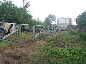 бетонирование оцинкованных столов для солнечных батарей