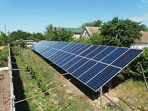 завершение монтажа солнечных панелей на столы