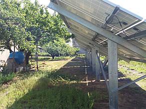 конструкция для установки солнечных батарей на землю вид сзади готовы вариант