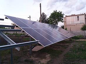 монтаж солнечных батарей на наземные столы (фермы)