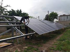 монтаж солнечных панелей на наземные столы