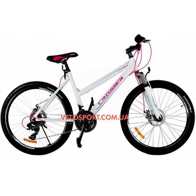 Подростковый велосипед Crosser Infinity 24 дюйма белый