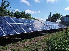 установленные столы солнечных батарей ASP-315P-72 5BB