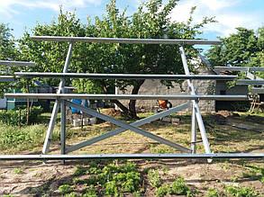сборка оцинкованных столов для солнечных батарей