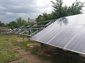 Третий день монтажа солнечной электростанции в поселке Куриловка Днепропетровской обл