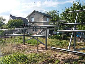 установка оцинкованных столов для солнечных батарей