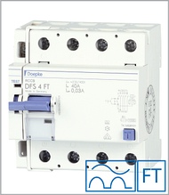 ПЗВ «DFS4 125-4/0,30-A FT» тип A, струм витоку 0,30 А, ном. струм 125А