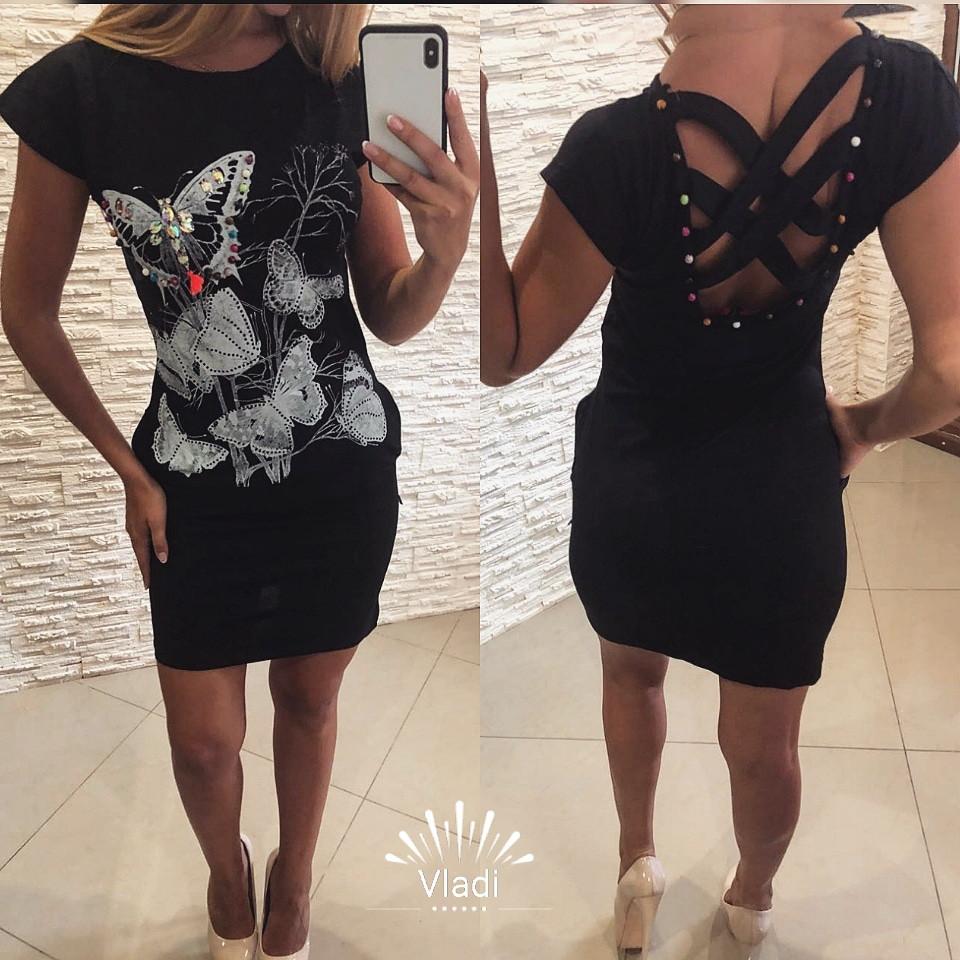 d5997aa83dd Модное короткое платье с камнями и стразами Турция - Интернет-магазин