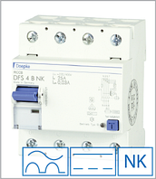 ПЗВ «DFS4 100-4/0,03-B NK» тип B, струм витоку 0,03А, ном.струм 100А