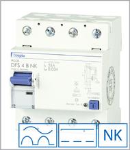 ПЗВ «DFS4 016-4/0,50-B NK» тип B, струм витоку 0,50А, ном.струм 16А