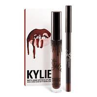 Матовая помада + карандаш Kylie Matte LIP KITS TRUE BROWN K