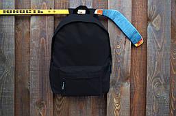 Повседневный рюкзак черный, свой логотип реплика