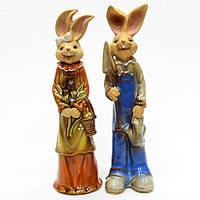 Фигурки из керамики набор Зайцы