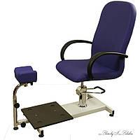 Педикюрное кресло на гидравлике регулируемая подставка-пуф для одной ноги  ZD900