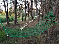 Гамак садовый ручная работа 210х85см  ячейка 12 см (разные цвета)