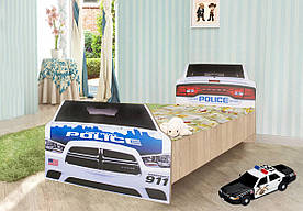 """Підліткове ліжко """"Поліція"""" (90х190 см) односпальне ТМ Вальтер-С K3-6.09.71"""