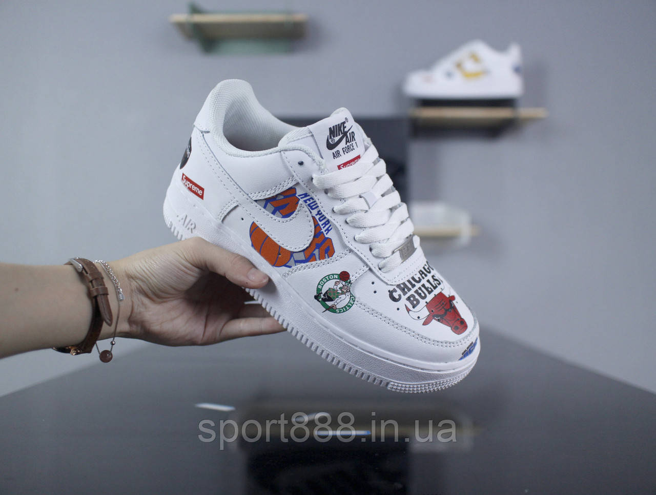 sale retailer fc59b 1e7fa Supreme x NBA x Nike Air Force 1 Low кроссовки