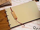 """Свадебная книга для поздравлений и пожеланий с деревянной обложкой """"Большой Венок"""", фото 3"""