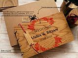 """Свадебная книга для поздравлений и пожеланий с деревянной обложкой """"Большой Венок"""", фото 4"""