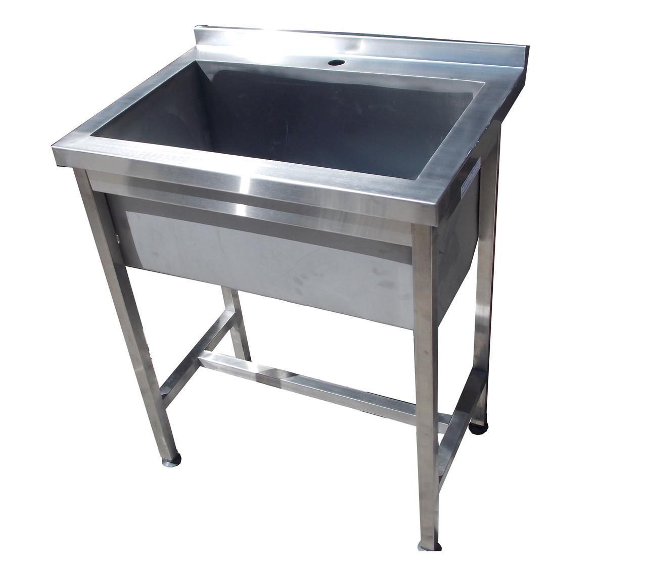 Ванна моечная 1 секц сварная с бортом   800х700х850