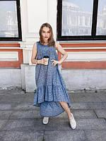 Платье женское длинное с поясом (К23398), фото 1
