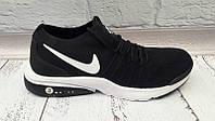 Кроссовки мужские Nike Air сетка черные/красные Ni0050