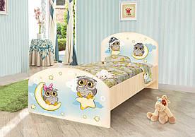 """Підліткове односпальне ліжко """"Сови"""" ДСП ТМ Вальтер-С K3-1.09.64"""