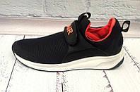 Кроссовки мужские Nike Air сетка черные на липучке Ni0032