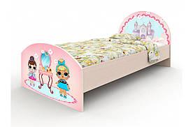 """Підліткове ліжко """"Лола"""" для дівчинки односпальне ТМ Вальтер-С рожевий K-1.09.74"""