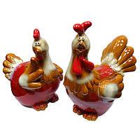 Сувенир из керамики фигурки Петух и Курица