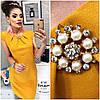Летнее платье с коротким рукавом декорирован брошкой  / 5 цветов арт 6023-476, фото 5