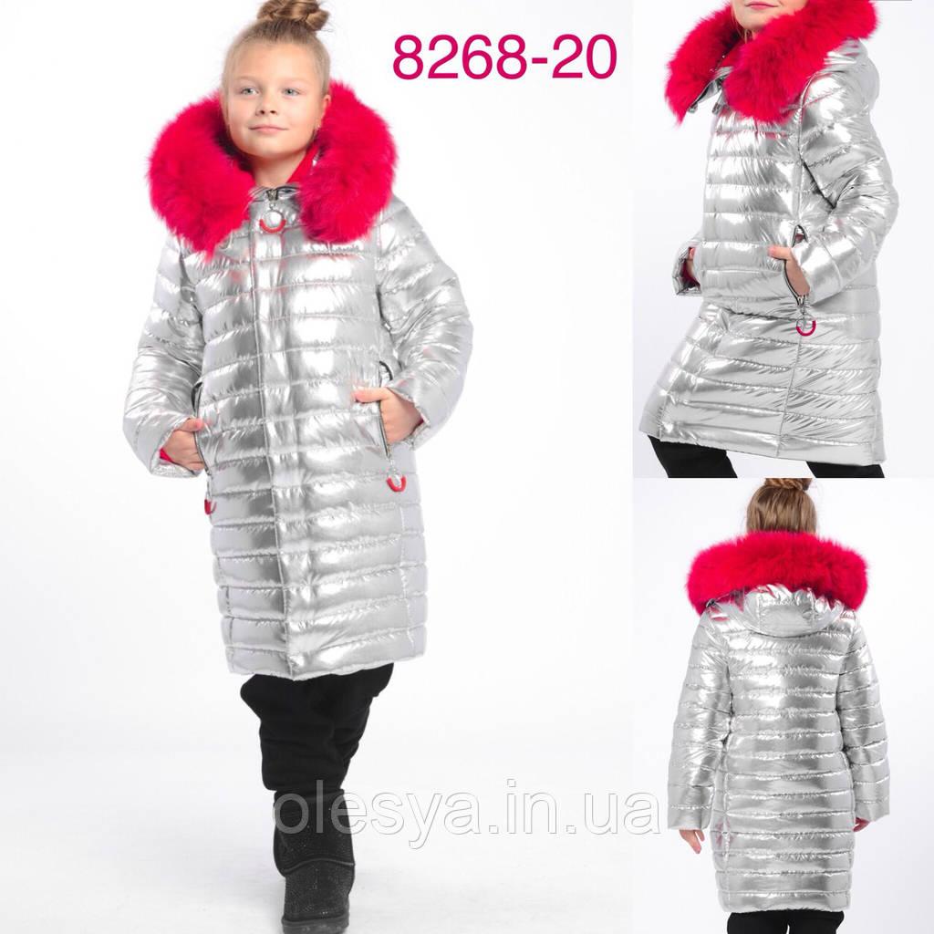 2811ea7e4eb0 Топ продаж Детское зимнее Пальто на девочку X-Woyz 8268 с мехом песца  Размеры 32- 42