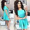 Летнее платье короткий рукав с расклешенной юбкой / 7 цветов  арт 6032-476, фото 8
