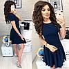 Летнее платье короткий рукав с расклешенной юбкой / 7 цветов  арт 6032-476, фото 2