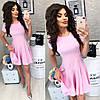 Летнее платье короткий рукав с расклешенной юбкой / 7 цветов  арт 6032-476
