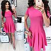 Летнее платье короткий рукав с расклешенной юбкой / 7 цветов  арт 6032-476, фото 6